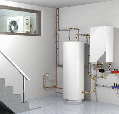 Тепловой насос - система внутри и снаружи (9 кВт)