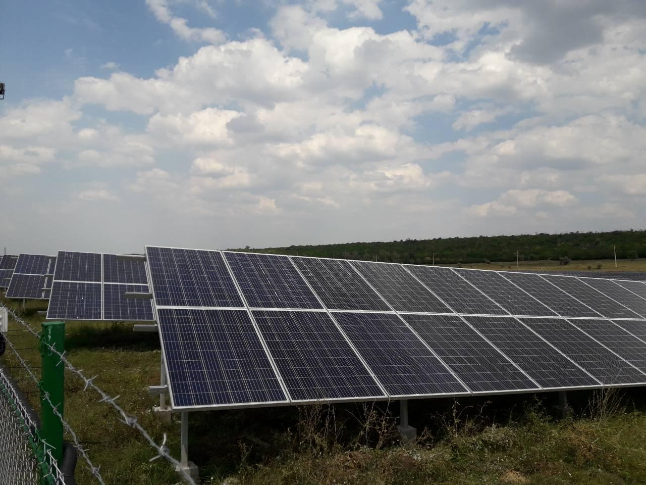 Установка солнечных панелей саен