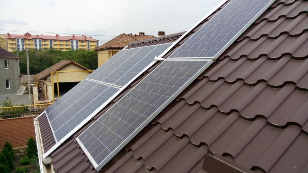 накрышные солнечные панели по зеленному тарифу